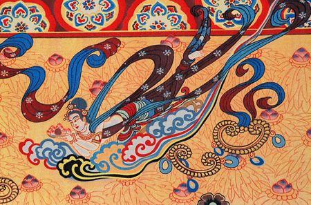 蜀锦是纯真丝织品,质地柔软坚韧,色彩艳丽,纹样风格秀丽,配色典雅.图片