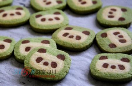 可爱的熊猫饼干,不仅看起来小清新