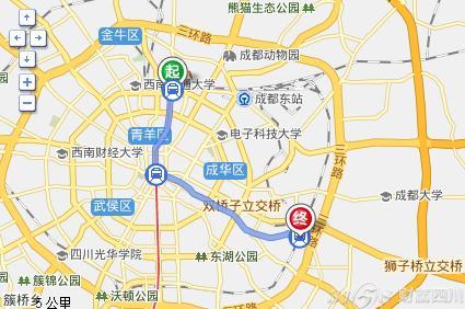 请问从成都火车北站到火车东站路线怎么走最快 坐哪种