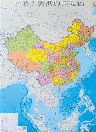 中国竖版地图问世 南海诸岛首次全景展现-3158财富安徽图片