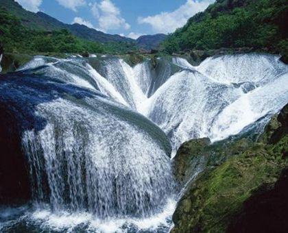 壁纸 风景 旅游 瀑布 山水 桌面 420_340