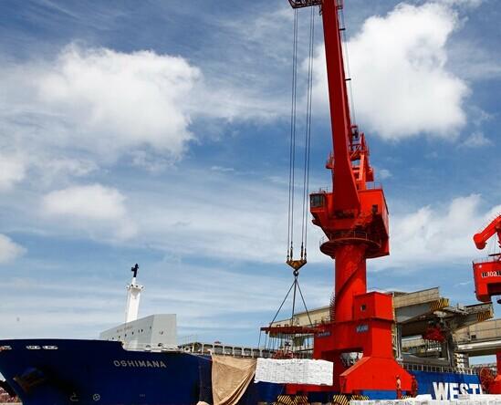 青岛港下属西联公司作为散货纸浆接卸码头,充分发挥地处保税物流园区