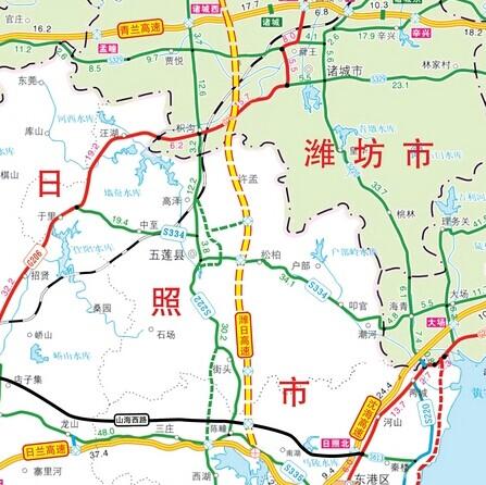 潍日高速具体路线图 千黄高速线具体线路图 襄荆宜高铁具体路线图