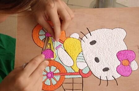 花泥画怎么做 花泥画制作过程