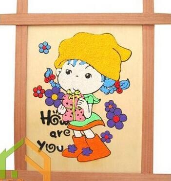画古老彩陶的花纹儿童画