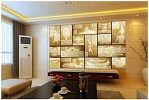 欧莱艺3D背景墙颠覆传统 美观实用