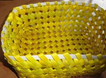 塑料条编筐 怎样用塑料条编筐