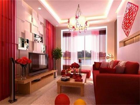 80后婚房装修效果图设计,客厅窗户上的彩色气球凸显婚房气息哦.