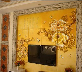 艺术浮雕背景墙,组合图案背景墙,镂空雕花,集成吊顶,欧式灯池,罗马柱