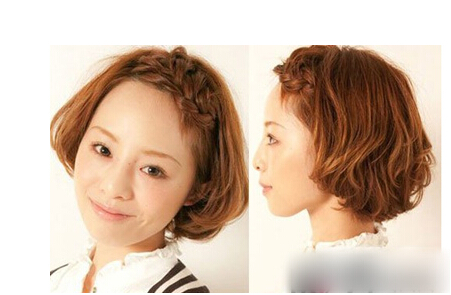 没刘海的女生发型图片