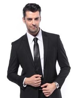 西装领带黑白头像