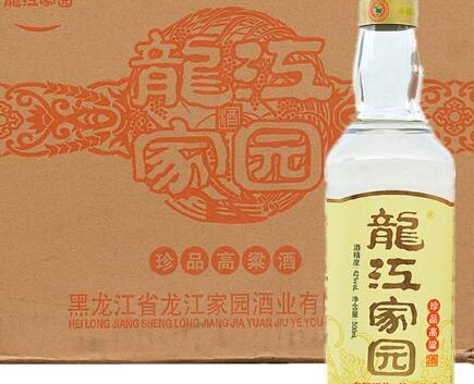 龙江家园酒价格表