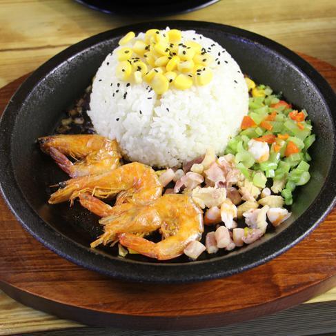 串串家园金汤麻辣烫-铁板鲜虾饭