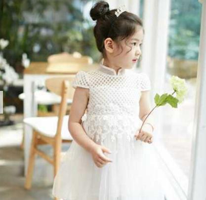 巴布兔-雪纺网纱纯色蓬蓬裙