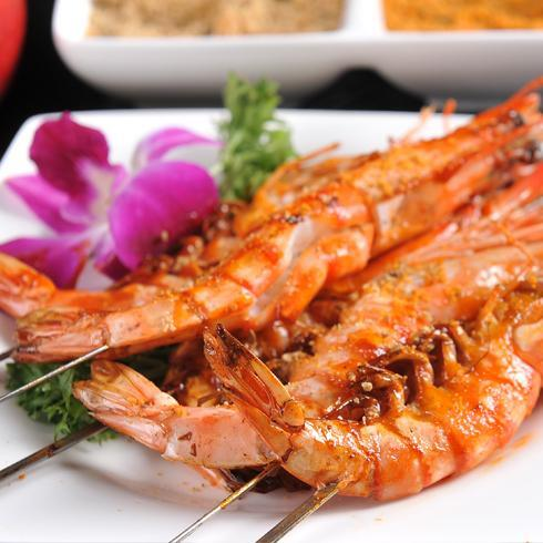 一品蹄督烧烤-美味烤虾
