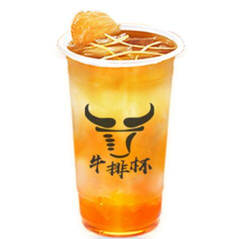 侑遇牛排杯-柠檬红茶