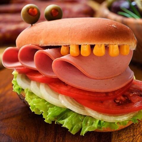亚洲汉堡-火腿汉堡