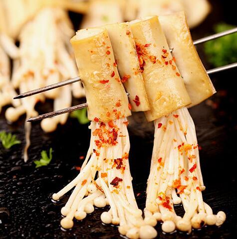 蜀锅串串-豆笋金针菇烤串