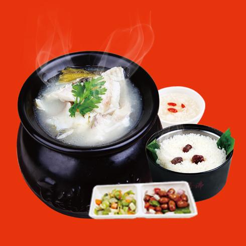 瓦罐香沸小吃快餐-酸菜鱼套餐