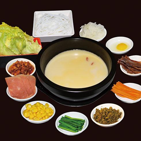 张一碗过桥米线-鸡汤米线配料