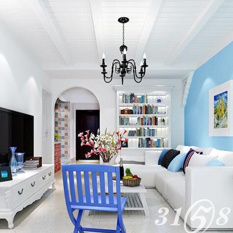 五星理想家全屋整装-地中海式风格客厅