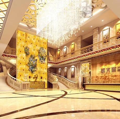墙爵士全屋整装-华丽酒店大厅