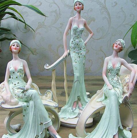 名众优品时尚百货-欧式工艺品美女摆件