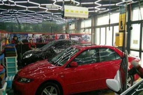 现在开一家汽车美容店**吗
