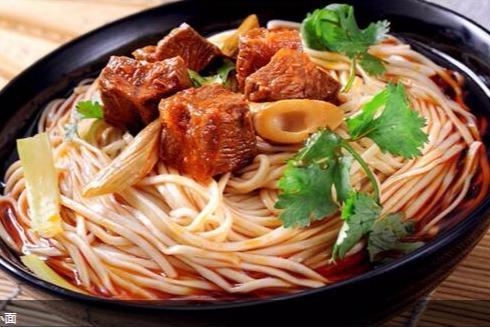 晓岚村小面的特色之一 复合型的菜单