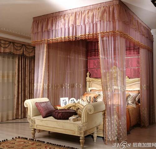 家庭红木家具阳台窗帘