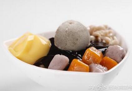 芋圆甜品菜单背景