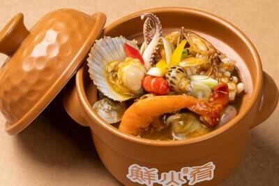 鲜火肴罐焖小海鲜