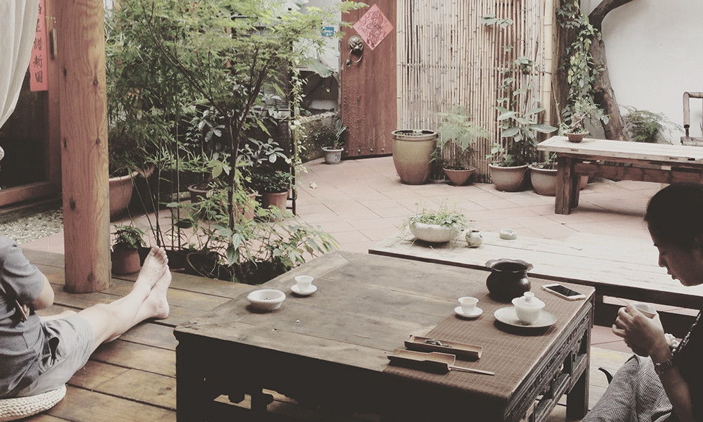 4在茶桌上,悠闲散漫的氛围,呆一下午都不觉得久