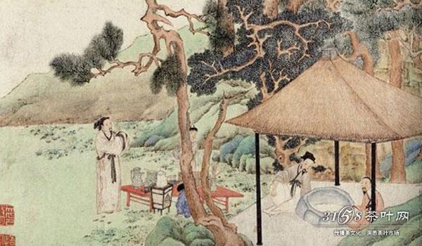 游览无锡惠山,饮茶赋诗的情景.-古人茶事之趣图片