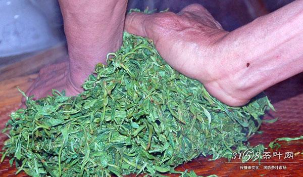 农家的手工茶的制作过程